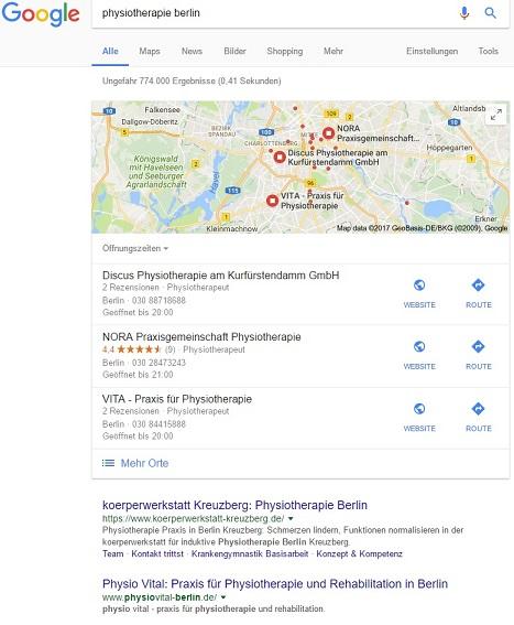 Suchergebnis Physiotherapie Berlin